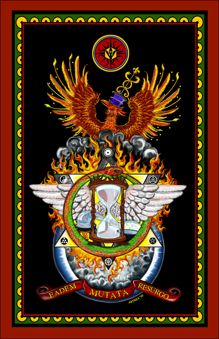illustrazione_esoterica_massoneria_fenice_freemason