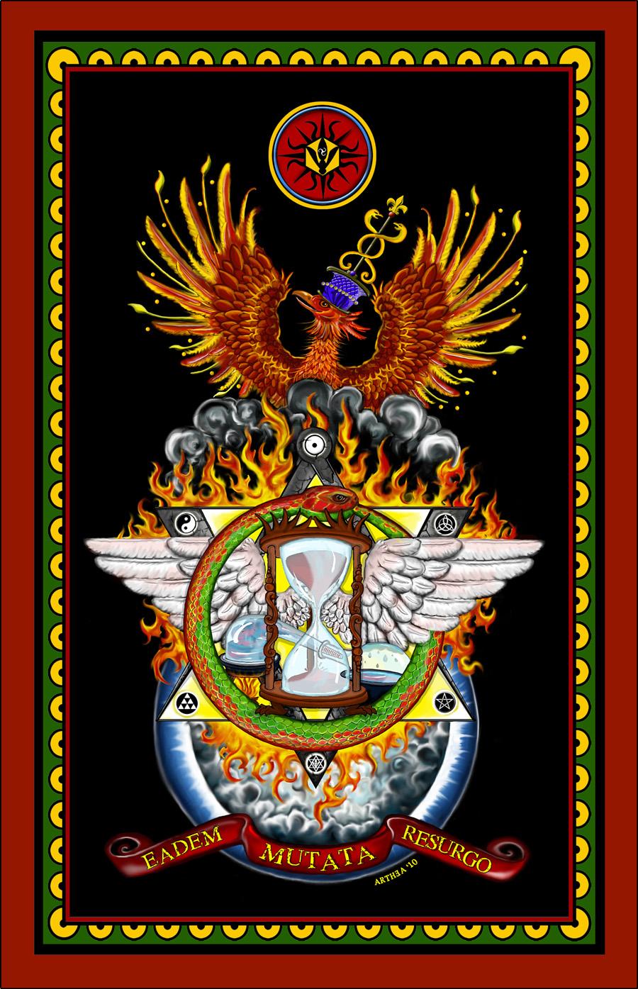illustrazione_esoterica_massoneria_fenice_freemason